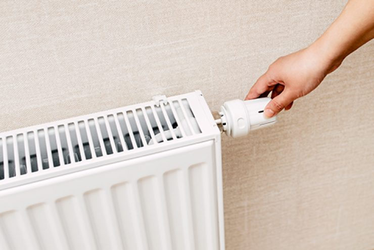 the battery or system of heating in the apartment